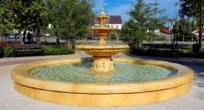 Casa Padrino Garten Deko Barock Springbrunnen Ø 465 x H. 180 cm - Prunkvoller Gartenbrunnen