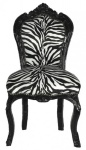 Barock Esszimmer Stuhl Zebra / Schwarz