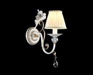 Casa Padrino Barock Figuren Kristall Wandleuchte Weiß / Gold 14 x H 35 cm Antik Stil - Wandlampe Wand Beleuchtung