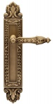 Casa Padrino Barock Türklinken Set Messing Patiniert 16, 4 x H. 38, 2 cm - Luxus Qualität Made in Italy