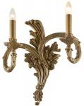 Casa Padrino Barock Doppel Wandleuchte Antik Gold 43 x H. 47 cm - Polyresin Wandlampe im Barockstil