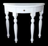 Casa Padrino Shabby Chic Konsolentisch Weiss B 82cm, H 75cm - Konsole Tisch Beistelltisch Landhaus Stil