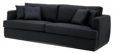 Casa Padrino Luxus Hotel Sofa Schwarz 234 x 103 x H. 86 cm - Limited Edition