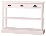 Casa Padrino Landhausstil Küchenkonsole Weiß 120 x 35 x H. 89 cm - Landhausstil Konsolentisch mit 3 Schubladen