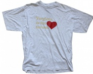 "General Research Skateboard T-Shirt "" Virginia is for Lovers"" Grey 1B Ware"
