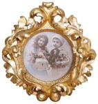 Casa Padrino Barock Bilderrahmen Gold 24.7 x 20.8 cm - Bilder Rahmen Foto Rahmen Jugendstil Antik Stil Shabby Chic