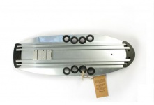 Beercan Boards Cruiser Microbrewster Deck silver - Aluminium Skateboard Deck