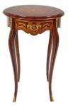 Casa Padrino Barock Beistelltisch Mahagoni Intarsien mit Schublade H70 x 50cm - Ludwig XVI Antik Stil Tisch - Möbel
