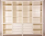 Großer Casa Padrino Shabby Chic Landhaus Stil Schrank Bücherschrank Old Creme B 300 H 250 cm- Schrank