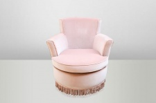 Casa Padrino Luxus Art Deco Lounge Sessel Rose - Luxury Collection - Jugendstil - Belle Epoche