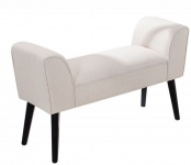 Casa Padrino Designer Sitzbank Creme Breite 90 cm, Höhe 55 cm