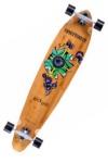 NINETYSIXTY Kickpin Bambus Longboard Skateboard komplett Flower 109cm - Special Edition mit Koston Kugellagern