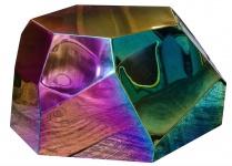 Casa Padrino Designer Wohnzimmertisch / Beistelltisch Titan 89 x 90 x H. 45 cm - Designer Kollektion