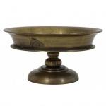 Massiver Tisch Schale in Bronze 50x50x26 cm aus dem Hause Casa Padrino - Antik Look