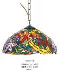 Handgefertigte Tiffany Pendelleuchte Hängeleuchte von Casa Padrino Durchmesser 40 cm, 2-Flammig - Leuchte Lampe