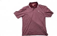ES Polo Skateboard T-Shirt Burgundey/White/Caro