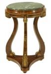 Casa Padrino Barock Beistelltisch Mahagoni / Bronze H70 x 45cm - Ludwig XVI Antik Stil Tisch - Möbel