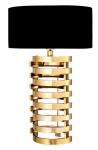 Casa Padrino Luxus Tischleuchte Gold finish / Lampenschirm Schwarz 74 x 50 cm - Leuchte - Luxury Collection
