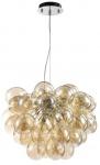Casa Padrino Luxus Hängeleuchte im Traubenförmigen Design Cognac Ø 44-50 x H. 40 cm - Designermöbel