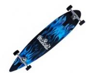 Krown Longboard Komplettboard Skateboard Blue Flame II Pintail mit Koston Kugellagern