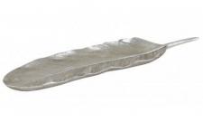 Casa Padrino Designer Schale Silber 43, 5 x 12 x H. 4 cm - Luxus Dekoration
