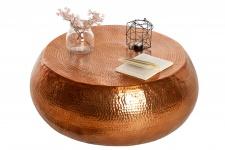 Casa Padrino Luxus Couchtisch kupfer 90cm kupfer - Wohnzimmer Salon Tisch