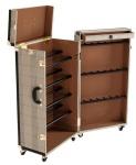 Casa Padrino Luxus Schuh Schrank im Vintage Koffer Design - Kommode - Art Deco Barock Jugendstil Kofferschrank - Luxus Hotel Einrichtung