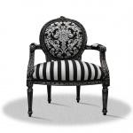 Casa Padrino Barock Salonstuhl mit Armlehnen 70 x 50 x H. 100 cm - Antik Stil Möbel