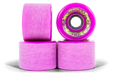 Mindless Voodoo Longboard Wheel Set (4 Rollen) Maji Purple 70mm / 81A - Cruiser Skateboard Rollen - Wheels