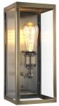 Casa Padrino Luxus Wandleuchte Antik Messing 16 x 16 x H. 36 cm - Hotel Restaurant Wandlampe
