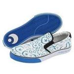 Osiris Skateboard Schuhe / Slip On Scoop White / Blue / Foundation Moons - 1B Ware