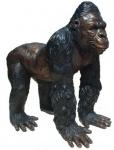 Casa Padrino Luxus Gorilla Bronzefigur Bronze / Schwarz 22 x 30 x H. 39 cm - Luxus Bronze Skulptur