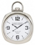Casa Padrino Designer Luxus Uhr Scotch 36 cm x 6 cm x H. 48 cm Nickel - Tischuhr