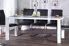 Moderner Design Esstisch Weiß Hochglanz 160 cm von Casa Padrino - Esszimmer Tisch