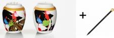 Harald Glööckler Porzellan Salz und Pfeffer Mod1 + Luxus Bleistift von Casa Padrino - Barock Dekoration
