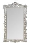 Casa Padrino Barock Spiegel Silber 110 x H. 193 cm - Antik Stil Wandspiegel