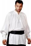 John Coxon Renaissance Piraten Shirt - White