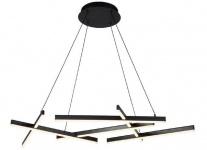 Casa Padrino Designer LED Hängeleuchte Schwarz 101 x 66 x H. 5, 5 cm - Luxus Kollektion