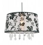 Barock Design Hängeleuchte, Pendelleuchte mit Kristall-Deco SM3415M Weiß Lampe Leuchte