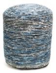 Casa Padrino Designer Sitzhocker Blau Ø 45 x H. 45 cm - Luxus Hocker