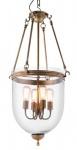 Casa Padrino Luxus Laterne - Luxus Messing Hängeleuchte Durchmesser 50 x H 100 cm