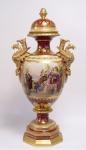 Casa Padrino Luxus Porzellan Vase mit Deckel H. 85 cm - Edel & Prunkvoll