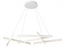 Casa Padrino Designer LED Hängeleuchte Weiß 101 x 66 x H. 5, 5 cm - Luxus Kollektion