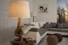Casa Padrino Designer Tischleuchte Marine Tauseil - Seil Hockerleuchte