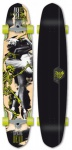 Flying Wheels Longboard Cruiser Dancing Dead 48 x 10 inch Komplettboard Carver - Special Edition mit Koston Kugellagern