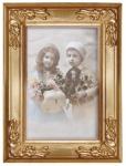 Casa Padrino Barock Bilderrahmen 19 x 14 cm Gold - Bilder Rahmen Foto Rahmen Jugendstil Antik Stil Mod AX29