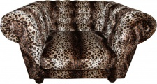 Casa Padrino Limited Edition Designer Chesterfield Sessel Leopard Club Möbel