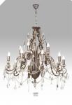 Casa Padrino Luxus Barock Kronleuchter mit echten Glaskristallen Silber Antik-Look, 10 Flammiger Lüster, Durchmesser 90 cm - feinste Qualität