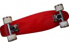 MySkateBrand Oldschool Skateboard Wood Cruiser 70s Style Red - 25.5 x 5.875 inch - Skateboard Longboard