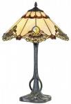 Casa Padrino Luxus Tiffany Tischleuchte Schwarz / Mehrfarbig Ø 40 x H. 62 cm - Luxus Qualität